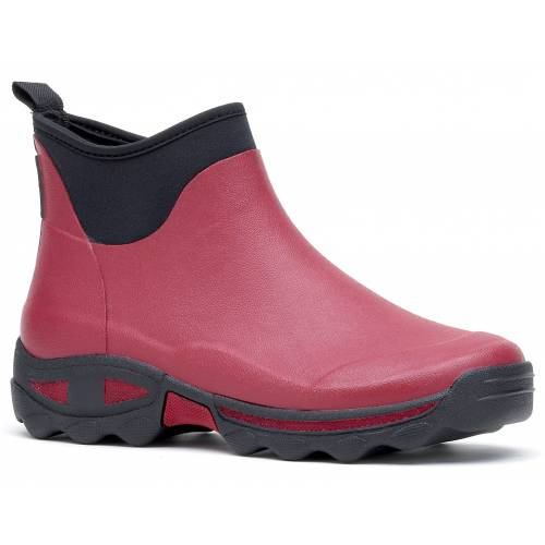 Self-cleaning ankle boots Dark red