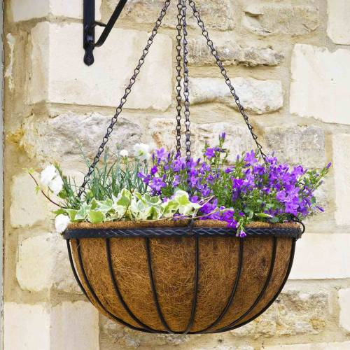 Hanging basket with coco liner - D.35 cm