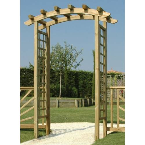 Wooden Arch Pergola for Entrance