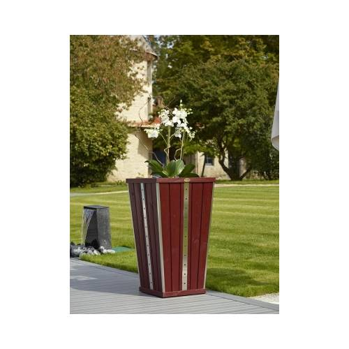 Design Flared Wooden Planter - Bordeaux
