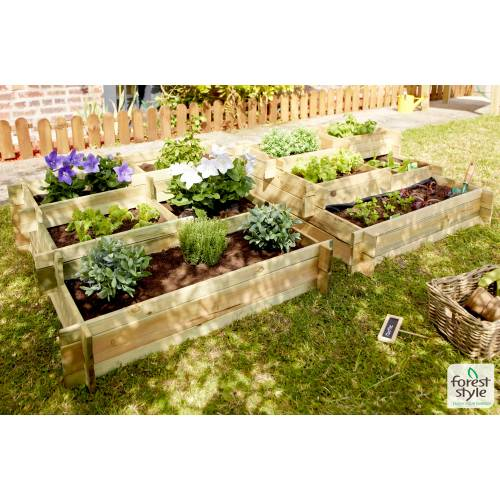 Wooden Square Foot Garden - Forest Style
