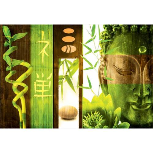 Outdoor canvas wall art green buddha