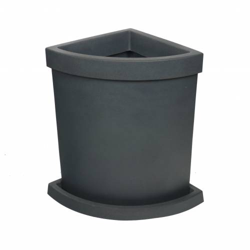 Quadrant-Circle Flower Pot - Anthracite