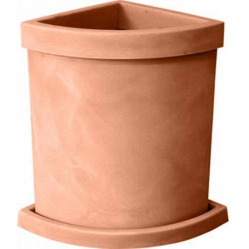 Quadrant-Circle Flower Pot - Sienna